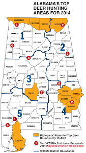 Map Of Alabama Counties Alabama Deer Hunting Forecast For 2014 Game U0026 Fish