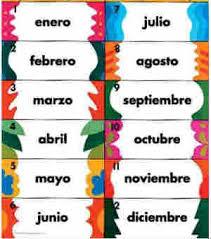 months in spanish