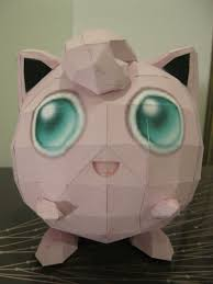 pokemon jigglypuff paper craft how to make a paper model
