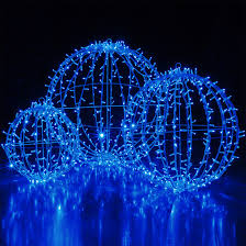 led commercial mega sphere light fold flat