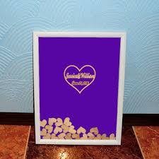 purple wedding guest book best heart guest book products on wanelo