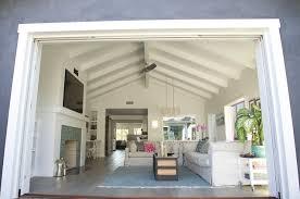 Pocket Door Indooroutdoor Transition Beach Style Family Room - Outdoor family rooms