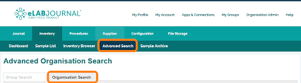 organization sample search