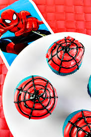 easy spiderman cupcakes comic con family