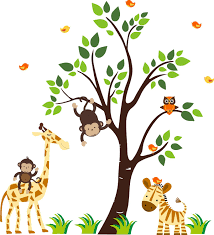wall stickers jungle theme download