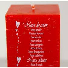 noces de mariages bougie anniversaires de mariage 20 ou 24 cm cadeaux pour toi