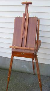 french easel wooden w drawer portable folding art artist painters