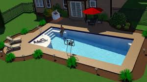 fiberglass pools last 1 the great backyard place the new great lakes in ground fiberglass pool by san juan