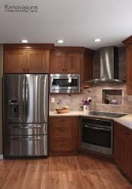 Kitchen Remodel Cabinets Thoughtful Handsome Kitchen Remodel Newly Reconfigured With Chef