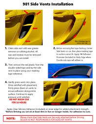 porsche yellow paint code 2013 2016 porsche boxster gts gt4 style side air scoop vents