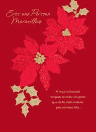 feliz navidad christmas card feliz navidad poinsettias christmas card cardstore