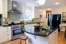 Kitchen Tile Backsplash Patterns Tiles Backsplash Wood Countertops White Kitchen Black Island