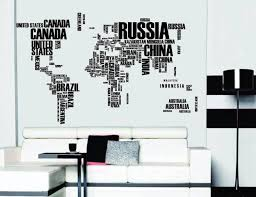 Wood Wall Stickers by World Map Wall Stickers Gadget Flow