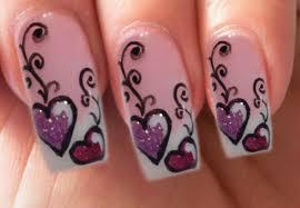 valentine u0027s day special 4 10 lila gel glitzer herzen nail art step