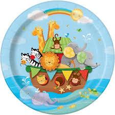 noah ark baby shower 9 noah s ark baby shower party plates 8ct walmart