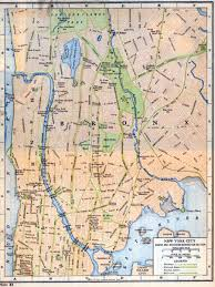 New York City New York Map by Map Of The Bronx And Upper Manhattan In New York City Rider Press