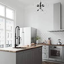 zurich white kitchen cabinets vigo vg02007mbk1 27 h zurich single handle with pull sprayer kitchen faucet with deck plate in matte black