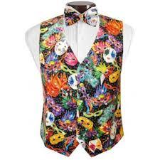 mardi gras vest bal masque mardi gras tuxedo vest and bow tie