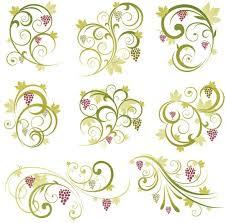 abstract floral vine grape ornament vector ornaments