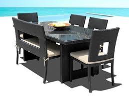 6 Chair Patio Dining Set Amazon Com Mango Home Patio Wicker 6 Piece Dining Set Outdoor