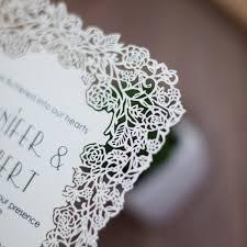 laser cut invitations laser cut wedding invitations casadebormela