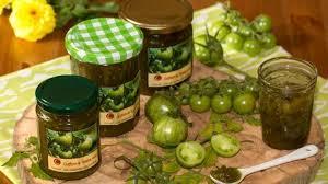cuisiner tomates vertes confiture de tomates vertes aux épices de noël et au yuzu