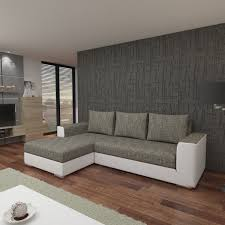 Wohnzimmer Couch G Stig Schlafsofa Sofa Couch Ecksofa Eckcouch Hellgrau Weiss
