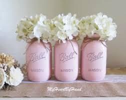 baby shower centerpiece distressed mason jars polka dots u0026