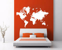 World Map Decal by Room Decoration Picture More Detailed Picture About World Map