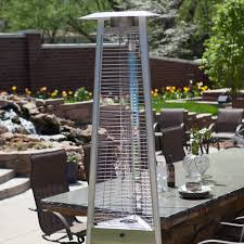 Hiland Tall Outdoor Patio Heater by Red Ember Glass Tube Commercial Stainless Steel Patio Heater With