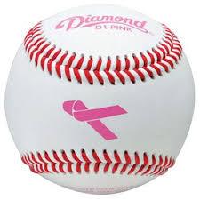 baseball ribbon diamond pink ribbon theme leather baseballs baseball equipment