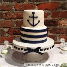 Nautical Baby Shower Cake Ideas Nautical Baby Shower Home With The Hoovers