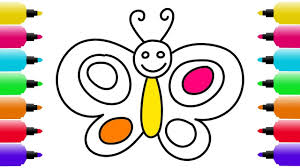 how to draw butterfly coloring pages for baby art colors for