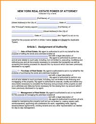 Letter Power Of Attorney 11 new york power of attorney form week notice letter