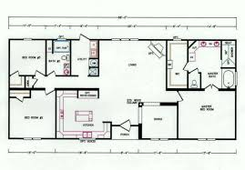 3 Bedroom Floor Plans by 3 Bedroom Floor Plan K 3238 Hawks Homes Manufactured