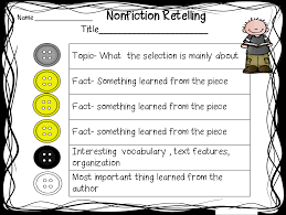 Fiction Vs Nonfiction Worksheet First Grade Wow Retelling Fiction And Nonfiction