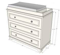 diy changing table topper dyi dresser to changing table how to build the top piece might