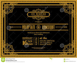 E Wedding Invitation Cards Vintage Wedding Invitation Card Border And Frame Template Stock