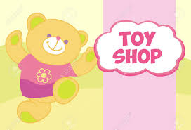 vector banner with a teddy bear template for advertising