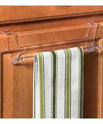Kitchen Towel Holders Hooks And Racks OrganizeIt - Kitchen cabinet towel rack