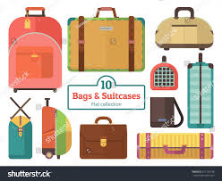 Suitcases Bags Suitcases Collection Set Flat Vector Stock Vector 311735738
