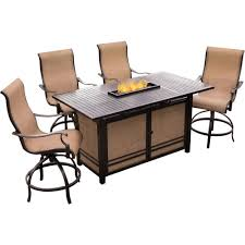 Agio Outdoor Patio Furniture by Agio Somerset 5 Piece Rectangular Outdoor Bar Height Dining Set