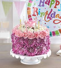 birthday wishes flower cake pastel 1800flowers com 148666