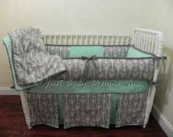 mint crib bedding etsy