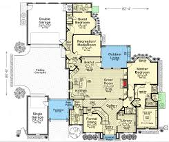 European House Floor Plans by Exclusive European House Plan With Two Rec Rooms 48521fm