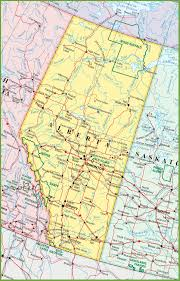 Africa Map Rivers Large Detailed Map Of Alberta With Cities And Towns