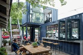 spout coffee a modern container coffee shop in pretoria http