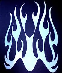 flame stencil airbrushes ebay