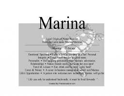 mean names marina is russian female name means of the sea u2013 nydob com