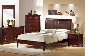 queen bedroom sets black leather padded headboard bed cream